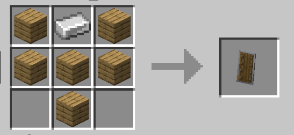minecraft shield recipe