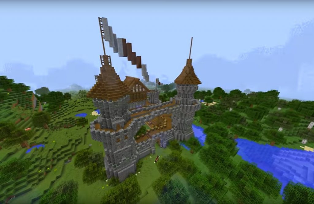 awesome minecraft medieval castle