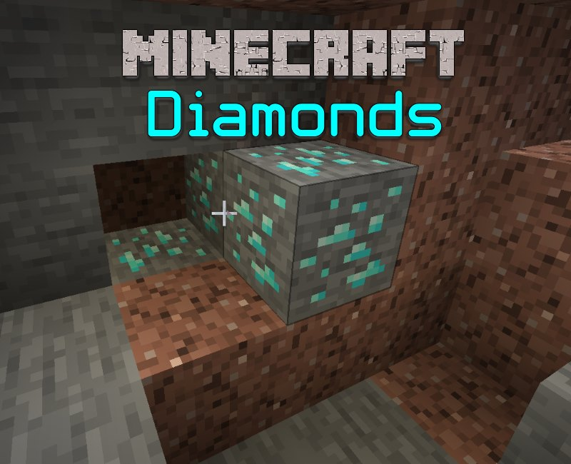 minecraft diamond ore and diamonds featured image