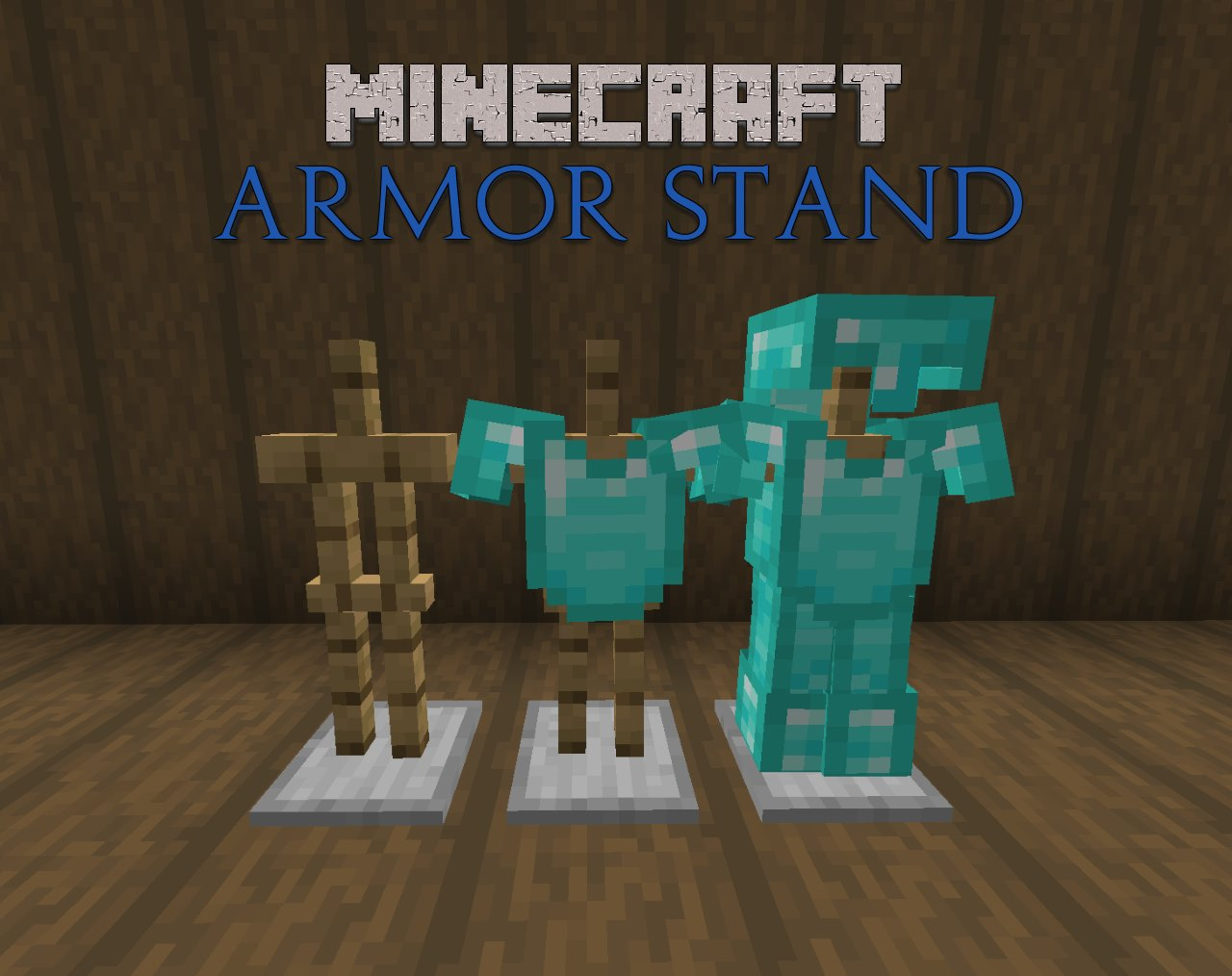 minecraft armor stands with diamond armor set