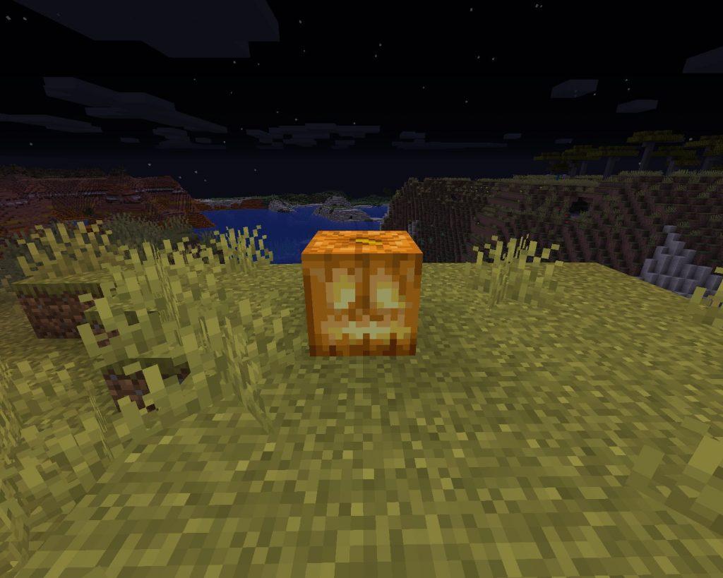 jack o'lantern block