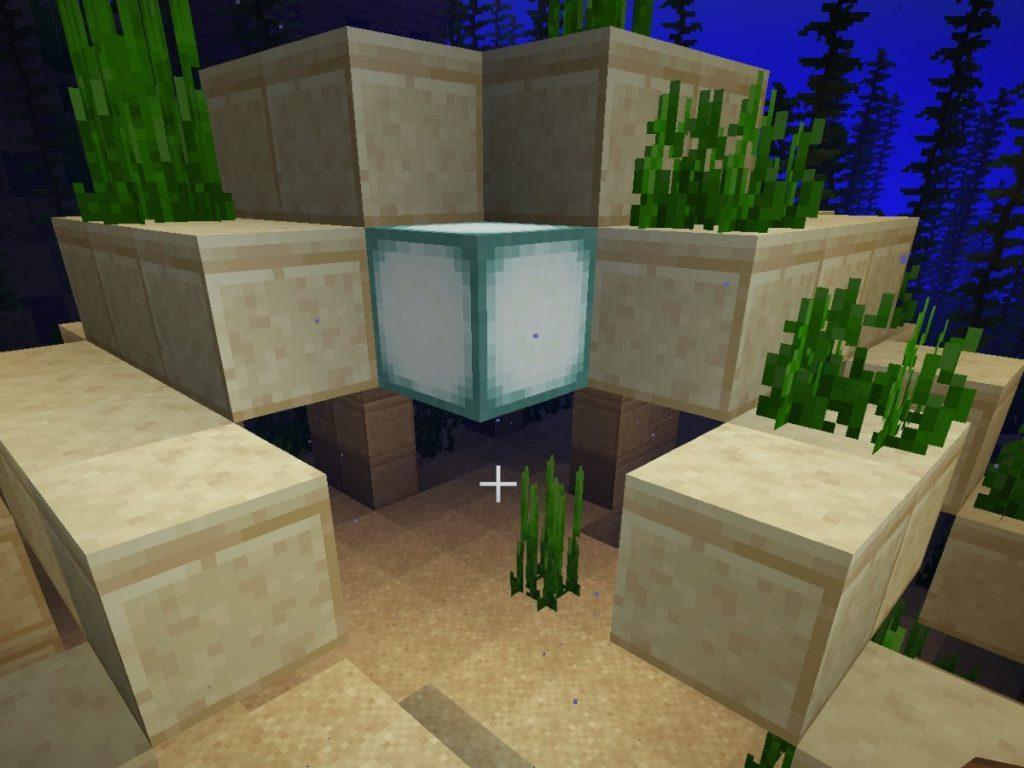 sea lantern in underwater ruin